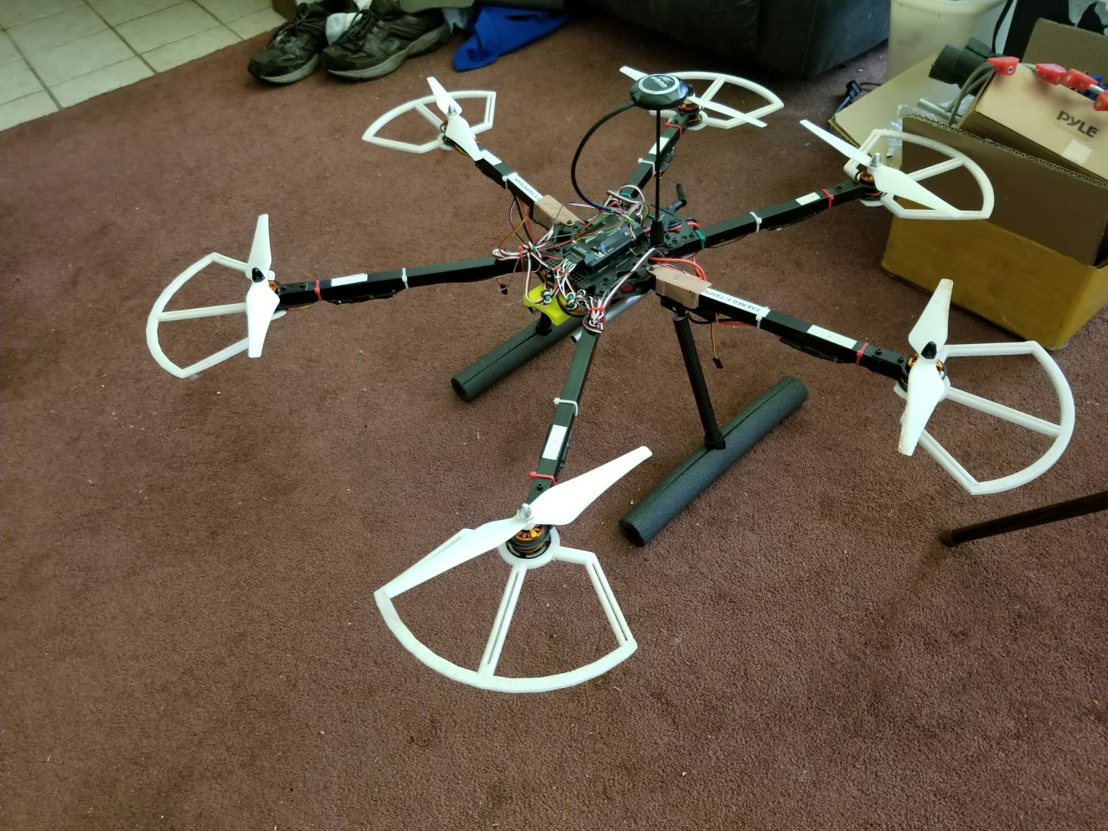 Drone with retracts mounted