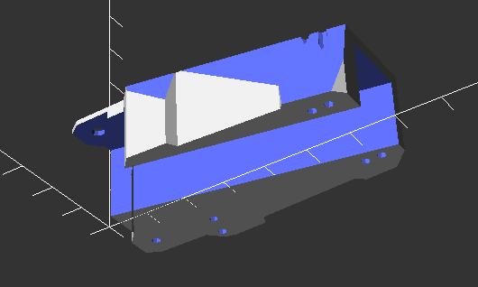 Retract mount CAD view