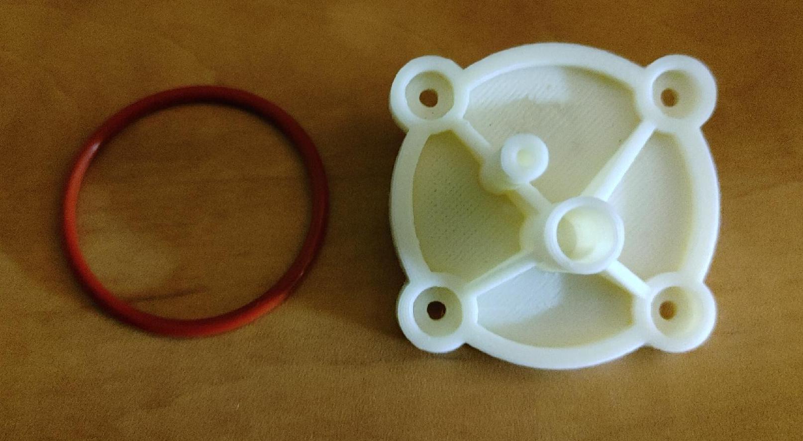 Water flow sensor cap
